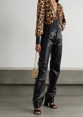 Paco Rabanne Leopard-print Satin Blouse