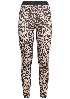 Paco Rabanne Leopard Printed Viscose Jersey Leggings