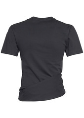 Paco Rabanne Logo Cotton Jersey T-shirt