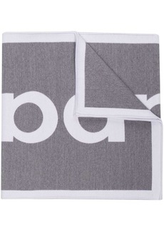 Paco Rabanne logo embroidered scarf