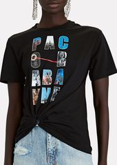 Paco Rabanne Logo Knotted T-Shirt