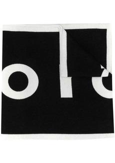 Paco Rabanne logo-print two-tone scarf