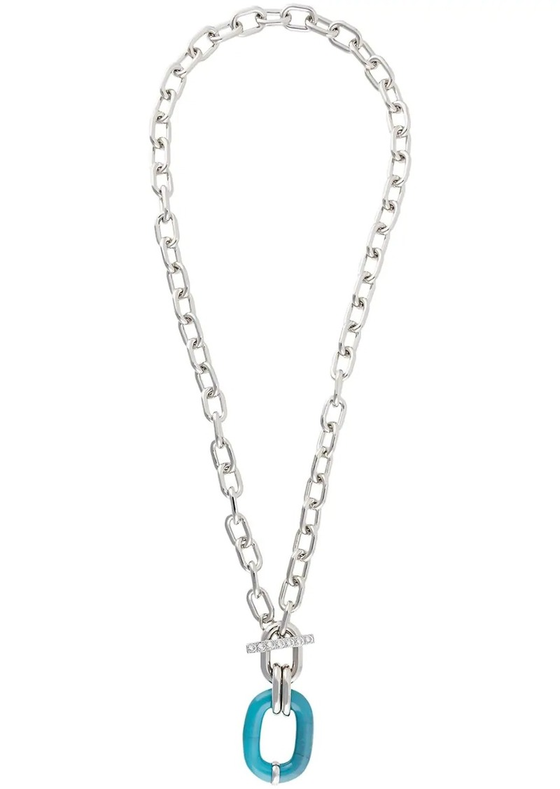 Paco Rabanne long chunky chain necklace