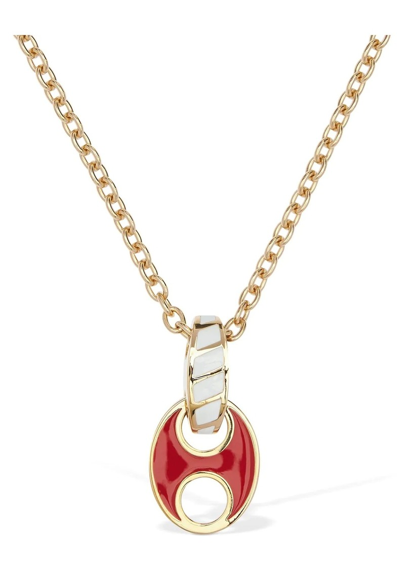 Paco Rabanne Long Pop Enameled Pendant Necklace
