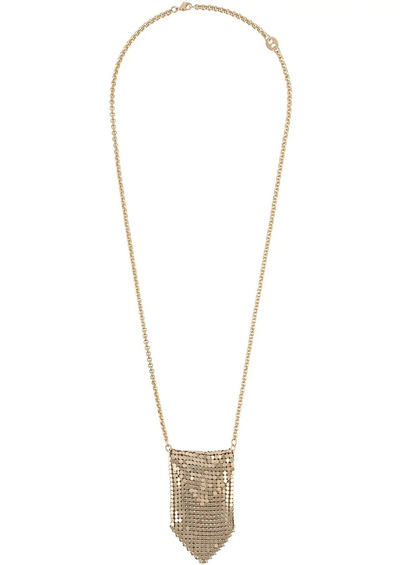 Paco Rabanne mesh pendant necklace