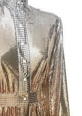 Paco Rabanne Metal Mesh Turtleneck Midi Dress