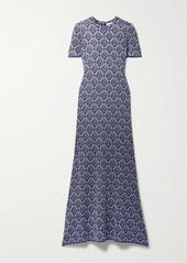 Paco Rabanne Metallic Jacquard-knit Midi Dress