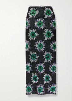 Paco Rabanne Metallic Jacquard-knit Midi Skirt