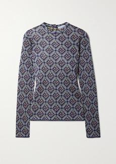 Paco Rabanne Metallic Jacquard-knit Sweater