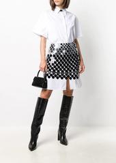 Paco Rabanne metallic pailette skirt