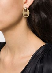 Paco Rabanne oval cut-out earrings