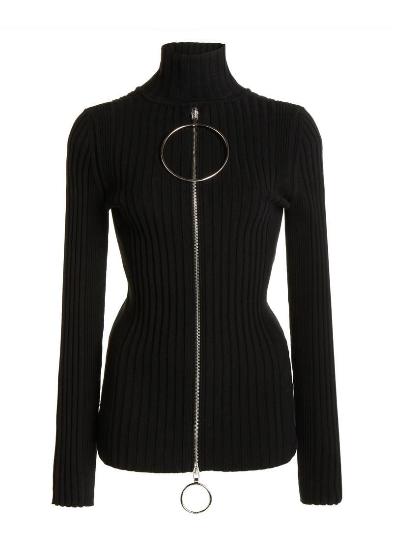 Paco Rabanne - Women's Kinetic Ribbed Cotton Top - Black - Moda Operandi