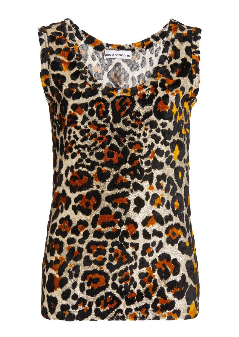 Paco Rabanne - Women's Leopard Metallic-Knit Top - Animal - Moda Operandi
