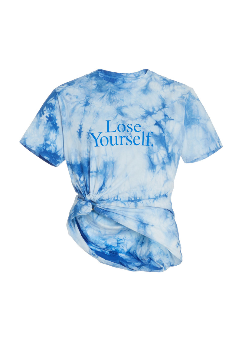 Paco Rabanne - Women's Lose Yourself Tie-Dyed Cotton Jersey T-Shirt - Blue - Moda Operandi