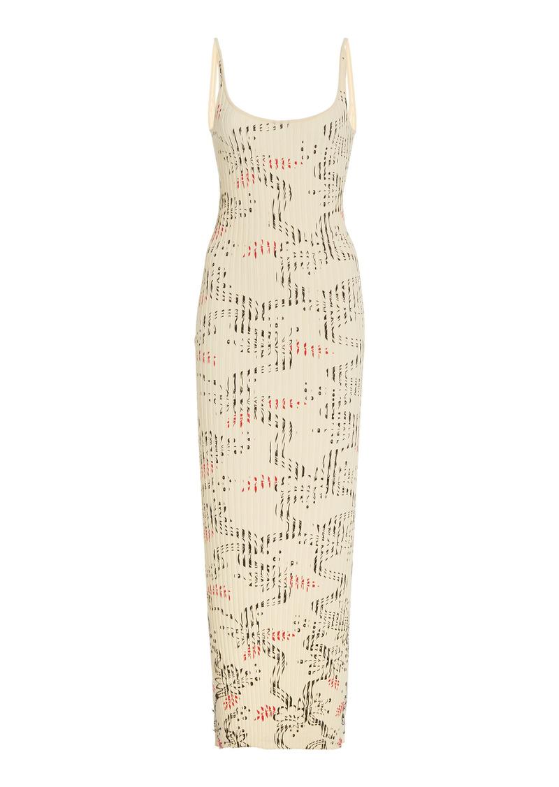 Paco Rabanne - Women's Printed Ribbed Cotton Maxi Dress - Print - Moda Operandi