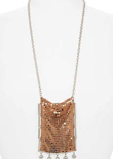 paco rabanne Aluminum Mesh Statement Necklace