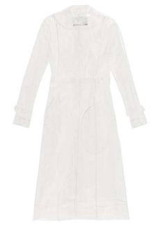 Paco Rabanne Belted transparent PVC raincoat