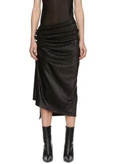 Paco Rabanne Black Draped Skirt