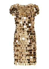 Paco Rabanne Chain Mail Sequined Mini Dress