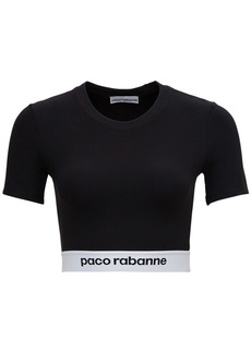 Paco Rabanne Crop Top With Logo