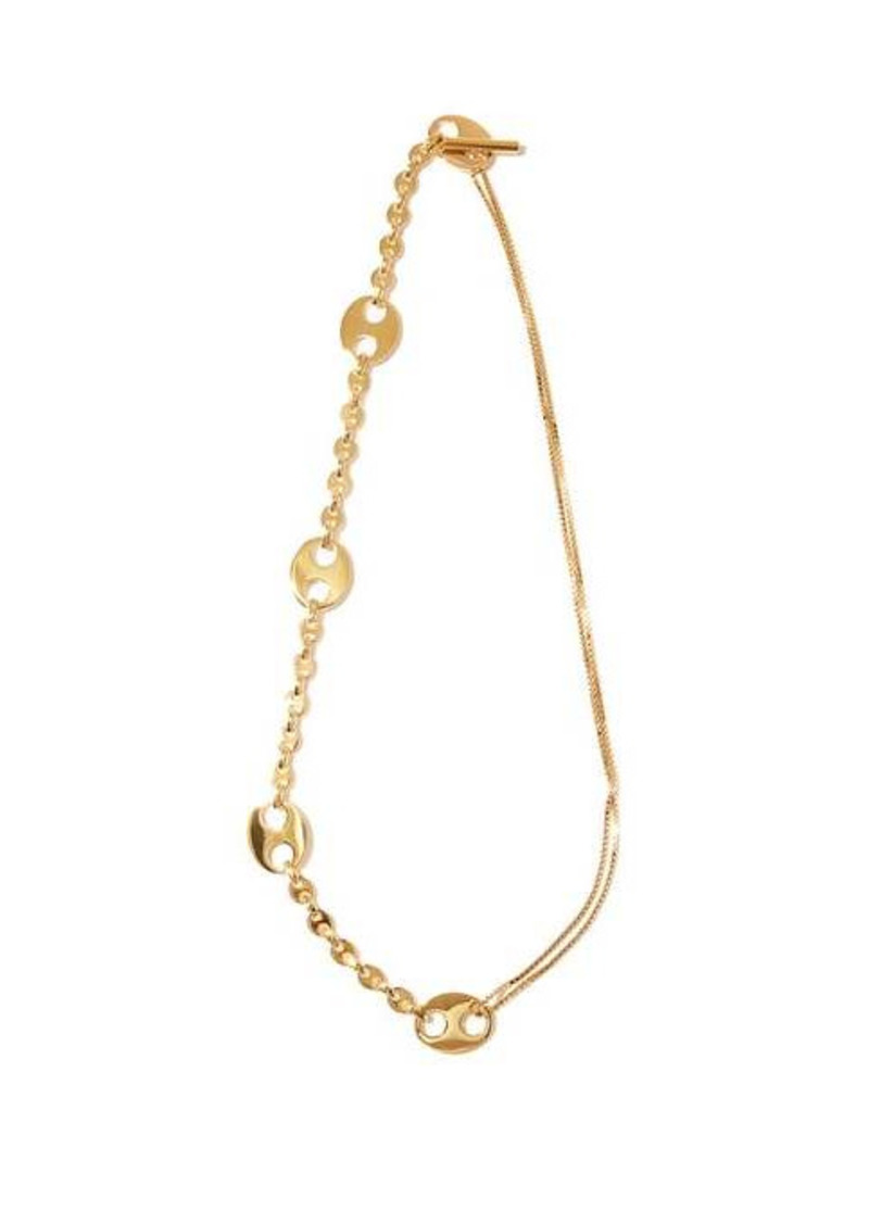 Paco Rabanne Eight metal-paillette chain necklace