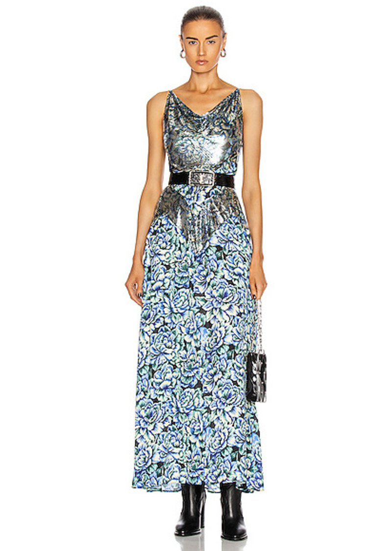 PACO RABANNE Embellished Floral Gown