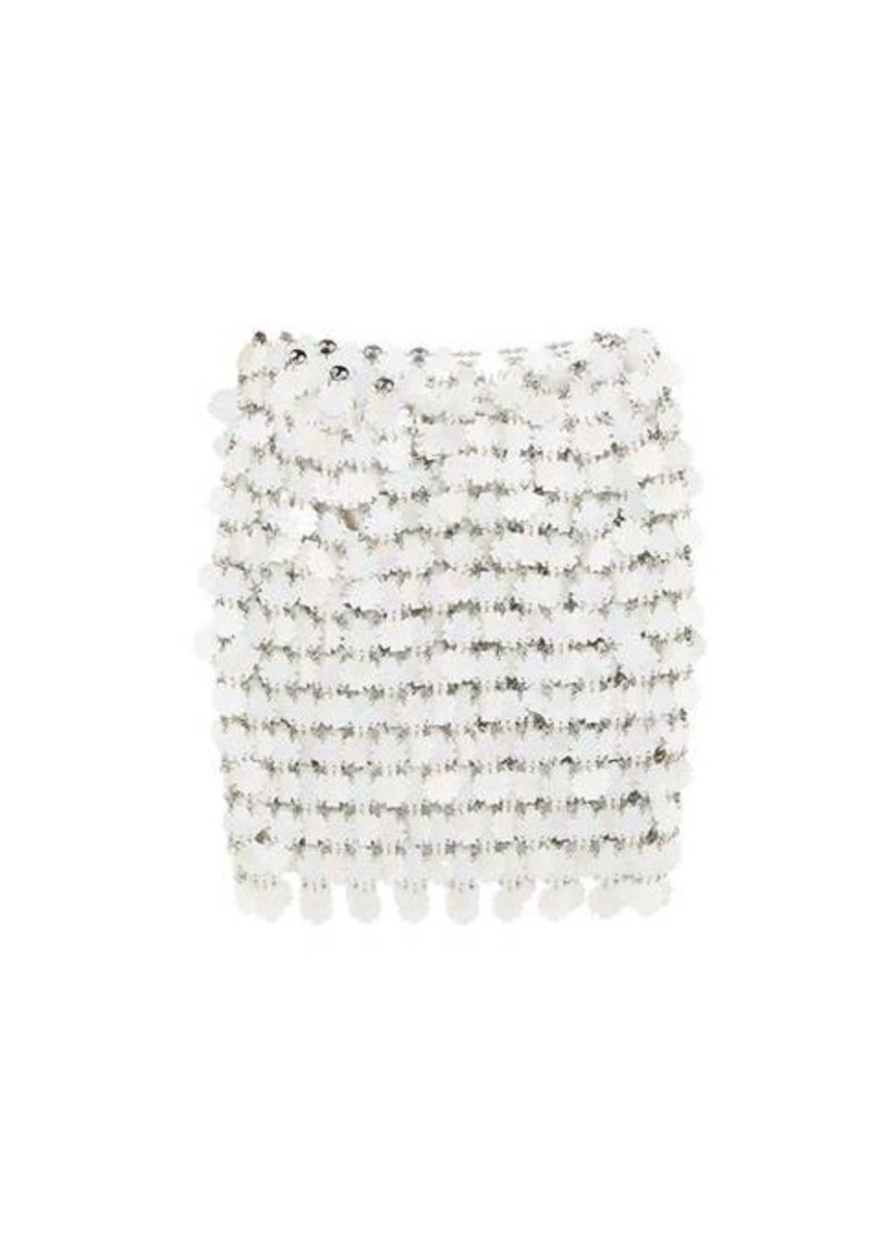Paco Rabanne Flower-paillette chainmail skirt