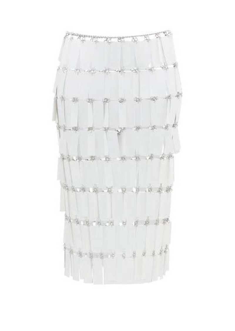 Paco Rabanne Geometric-paillette chainmail skirt