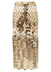Paco Rabanne High-rise chainmail midi skirt