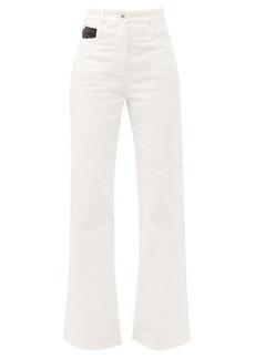Paco Rabanne High-rise kick-flare jeans