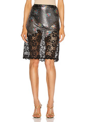 PACO RABANNE Lace Trim Skirt