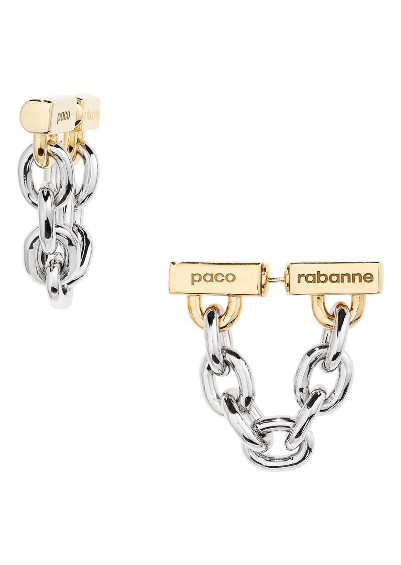 paco rabanne Logo Front/Back Earrings