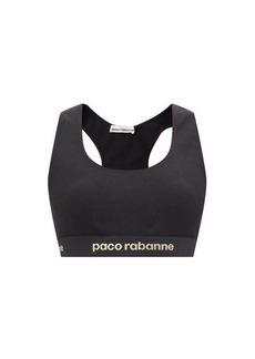 Paco Rabanne Logo-jacquard low-impact jersey sports bra
