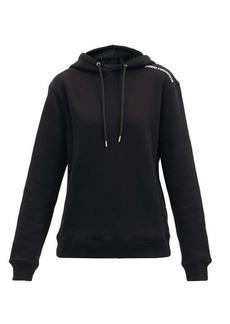 Paco Rabanne Logo-print cotton-jersey hooded sweatshirt