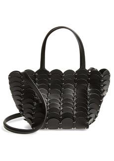 paco rabanne Mini Pacoïo Cabas Leather Tote