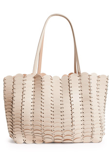 Paco Rabanne Pacoico Leather Tote - Beige
