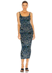 PACO RABANNE Pleated Sleeveless Maxi Dress