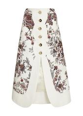 Paco Rabanne Printed Cotton-Blend Midi Skirt