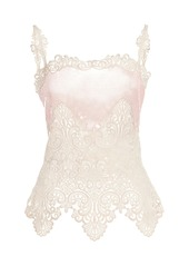 Paco Rabanne Sequin-Embellished Lace Top
