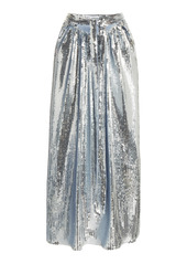 Paco Rabanne Sequined Jersey Maxi Skirt