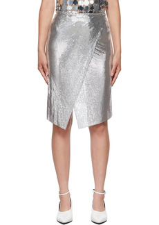 Paco Rabanne Silver Mesh Wrap Skirt