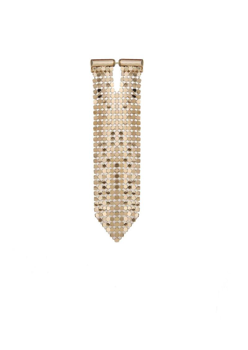 Paco Rabanne Single Earring Pixel Tie In Knit