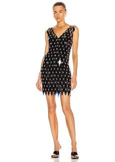PACO RABANNE Sleeveless Embellished Mini Dress