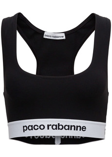 Paco Rabanne Stretch Fabric Top With Logo