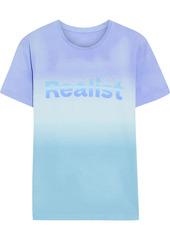 Paco Rabanne Woman + Peter Saville Printed Dégradé Cotton-jersey T-shirt Light Blue