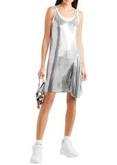 Paco Rabanne Woman Asymmetric Chainmail Mini Slip Dress Silver