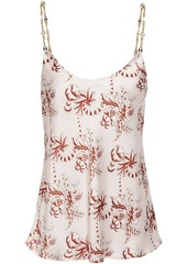 Paco Rabanne Woman Chain-trimmed Printed Satin Camisole Pastel Pink