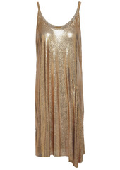 Paco Rabanne Woman Chainmail Slip Dress Gold