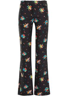Paco Rabanne Woman Floral-print Cotton-blend Bootcut Pants Black