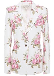 Paco Rabanne Woman Floral-print Cotton-blend Cady Blazer White